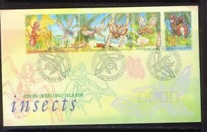 Insects 1995 Cocos Keeling Island FDC First Day Cover