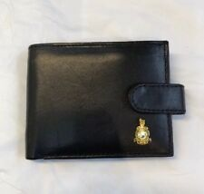 The Royal Marines Mens leather wallet with Royal Marines badge
