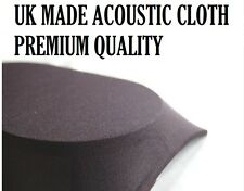 BLACK PROFESSIONAL ACOUSTIC SPEAKER CLOTH / FABRIC - PREMIUM QUALITY MANY SIZES
