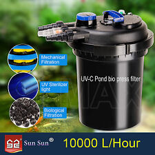SunSun Pond Filter Pressured Aquarium External Canister Fish Tank UV Light Water