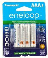 BK-4MCCA8BA PANASONIC eneloop NiMH rechargeable Batteries (AAA; 8 pk)