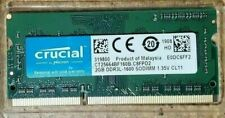 2GB Crucial RAM DDR3 1600MHz Laptop Notebook