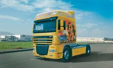 3842 italeri daf xf 105 1/24 truck & trailer plastic model kit scale 1/24