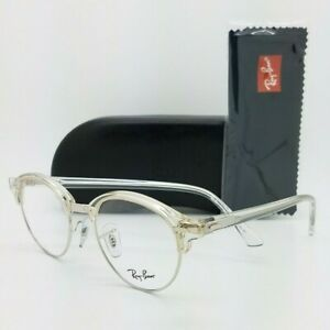 NEW Rayban Clubround Prescription Frame Transparent RX4246V 2001 47mm AUTHENTIC