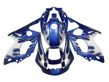 Injection Body Fairing Kit for Yamaha YZF600R Thundercat 97-07 Blue White Flame