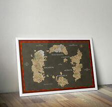 Azeroth Map, World of Warcraft, Poster, Stampa Formato A3 11.7 x 16.5 in
