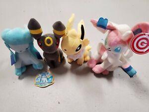 Tomy Pokemon Eevee Evolution Stuffed Plush Set Glaceon Sylveon Umbreon Jolteon