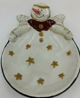 Sonoma Life Styles Angel Snowman and stars Candy dish/Trinket Dish