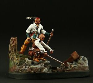 Tin soldier, Collectible Woodland Indians: Watch 54 mm, American Natives