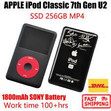 APPLE iPod Classic 7th Gen U2 MP4 PLAYER 256GB SSD 1800mAh 100hrs New Battery