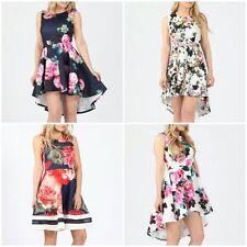 Polyester Floral Skater Short/Mini Dresses for Women
