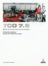 Prospectus moteur DEUTZ tcd 7.8 moteur industriel 3 10 2010 brochure Engine motortechn