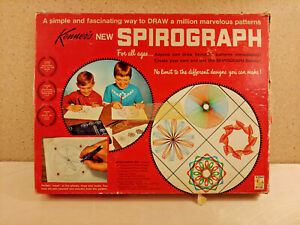 Kenner's Spirograph 1967 Nearly Complete Vintage Toy Art Kit Pattern Drawing
