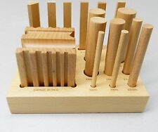 Wooden Swage Block Set Wood Forming Design Cube & Punches Form & Shape 15pc Set