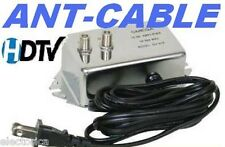ANTENNA AMPLIFIER SIGNAL BOOSTER CABLE HD TV AMP OTA 20 dB TIME WARNER COMCAST
