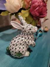 Andrea by Sadek HandPainted Green Fishnet Rabbit Bunny