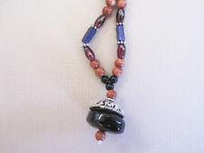 Galaxy Stars - Sun Sitara, German Silver, Lapis, Garnet and Black Onyx necklace