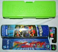 Lite Brite Magic Template Spare  Pegs & Peg Storage Case + Tonka Refill Set
