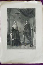 1800s Engraving Etching - RARE Macbeth -Johnston & Sharpe !!!  antique vintage