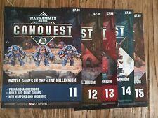 Warhammer 40,000 CONQUEST Binder Magazines. Issue 11 - 15 (No figures)