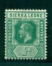SIERRA LEONE 103 SG112 MH 1912-21 1/2p grn KGV Wmk Mult Crown CA Cat$5