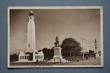 R&L Postcard: Drake's Statue and War Memorial, The Hoe Plymouth, Local Card