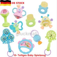 10tlg Baby Rassel Beißring Set Spielzeug Handrassel Früherziehungsspielzeug DE