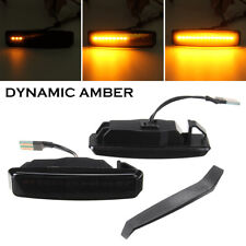 Pair Dynamic Smoked LED Side Indicators Light For BMW 5 Series E39 M5 96-04