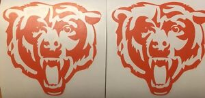 """Chicago Bears 2pack Of Decals 4.5""""x4.5"""" Vinyl Sticker **FREE SHIPPING**"""