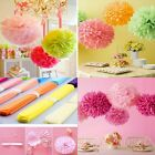 "6"" 8"" 10"" 12"" 14"" 10X Tissue Paper Pom Poms Flower Balls Wedding Festival Party"