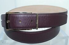 New Salvatore Ferragamo Men's Brown Belt Size 46 Adjustable Gancini
