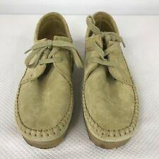 Clarks Original Collection Maple Suede Weaver Moc Toe Crepe Sole Shoes Size 8