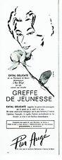 Publicité Advertising  0817  1962  Pier Augé  cosmétiques Ental Delicate
