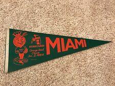 Vintage 1984 Miami Hurricanes Orange Bowl Full Size Pennant