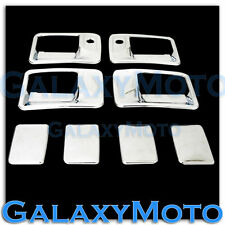 99-16 Ford Super Duty F250+F350+F450 Chrome 4 Door Handle w/ PSG keyhole Cover