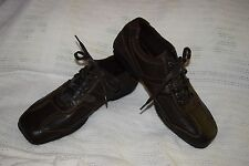 New Men's Size 8.5 Calvin Klein Brown Ben Leather Casual Sneaker Shoes $89.99