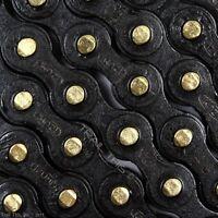 Izumi Jet Black with Gold Pins 1/2 x 1/8 116L BMX Track Single-Speed Bike Chain