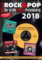 Rock & Pop Single Preiskatalog 2018 neu ovp kein Porto