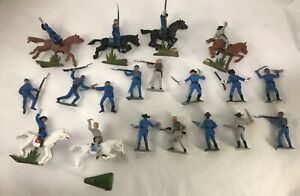 25 LOTTO nordisti sudisti JECASN plastic soldier hand painted american civil war
