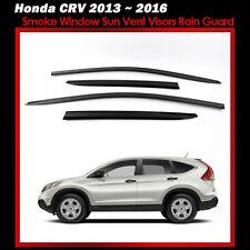 New Smoke Window Sun Vent Visors Deflector Rain Guard 4P for Honda CRV 2013~2016