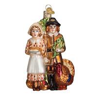"""Pilgrim Thanksgiving"" (24156)X Old World Christmas Glass Ornament w/ OWC Box"