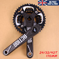 104/64BCD 24/32/42t 170mm Crankset MTB Bike Chainring Crank Cycling Sprocket CNC