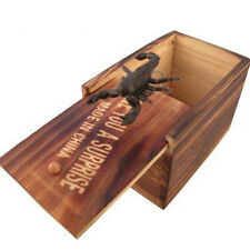 1PC Wooden Prank Spider Scare Box Home/Office Funny Joke Gag Tricky Toy Startle