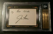 Jim Irwin Apollo 15 NASA Signed Autograph AUTHENTIC LEAF RAZOR Cut Signature BGS