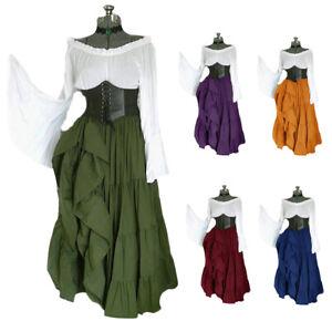 Medieval Women Victorian Dress Cosplay Costume Retro Renaissance Dress Ball Gown