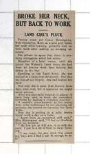 1942 Grace Hemingway Orpington Kent Broke Back Then Back To Work