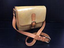 Auth LOUIS VUITTON  Vernis Christie GM Shoulder Bag Yellow 7G040160m