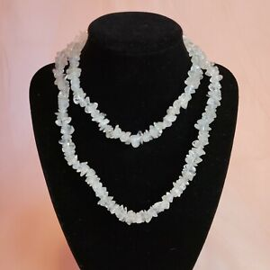 Natural Clear Quartz Chip Statement Necklace Natural Stone Jewelry