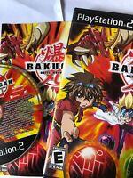 Bakugan Battle Brawlers - Playstation 2 PS2 Game - Manual & box & Tested