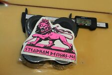 Pink Steadham Sticker+ Blank Soft 64mm 1980's W1 Vintage Set 4 Skateboard Wheels
